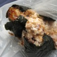 【お結び:雑穀おにぎり専門店 目白ファーム】 (でんでら味噌&鮭マヨネーズ)