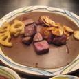 【鉄板焼:モンシェルトントン】 (サーロインステーキ&焼き野菜)1