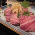 【創作小皿料理:銀漢亭】 (熊本の馬刺し)
