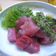 【季節料理:仲や】 (まぐろブツ切り)